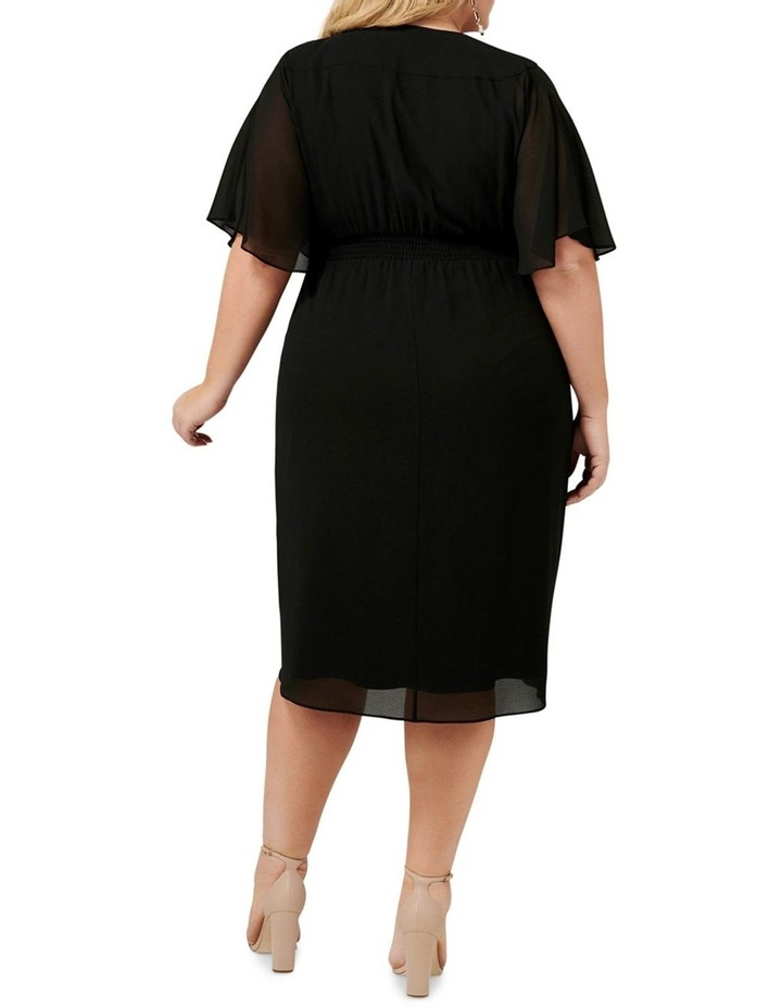 Tori Sleeved Wrap Over Curve Dress image 4