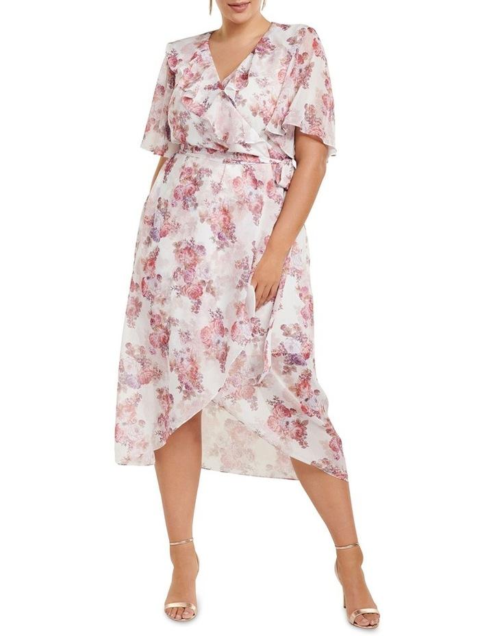 Felicite Flutter Sleeve Curve Midi Dress image 1