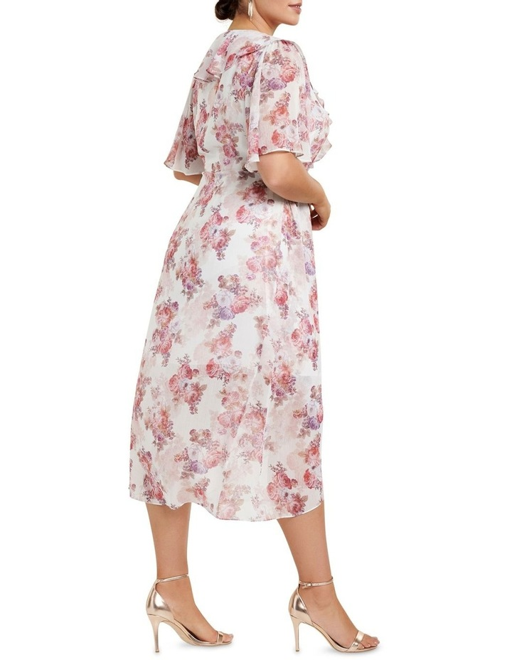Felicite Flutter Sleeve Curve Midi Dress image 3