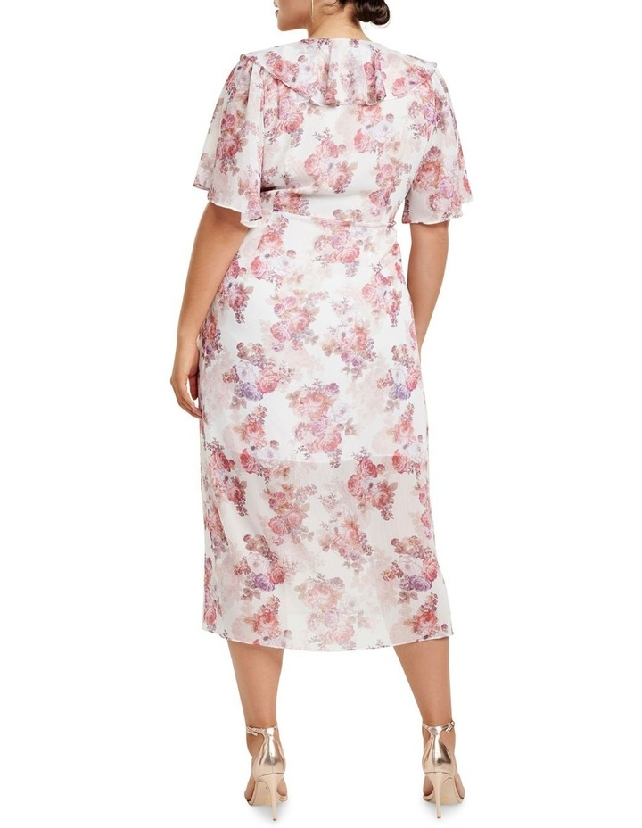 Felicite Flutter Sleeve Curve Midi Dress image 4