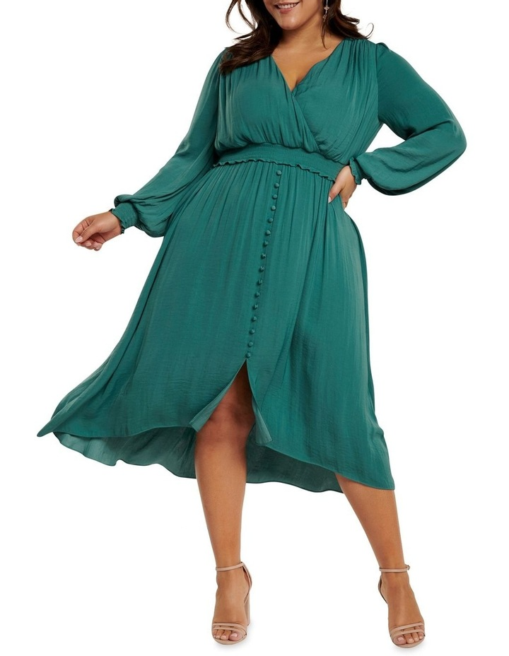 Eva Satin Shirred Waist Curve Dress image 1