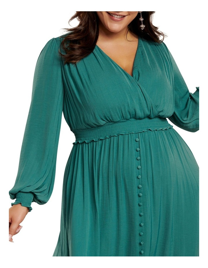 Eva Satin Shirred Waist Curve Dress image 2