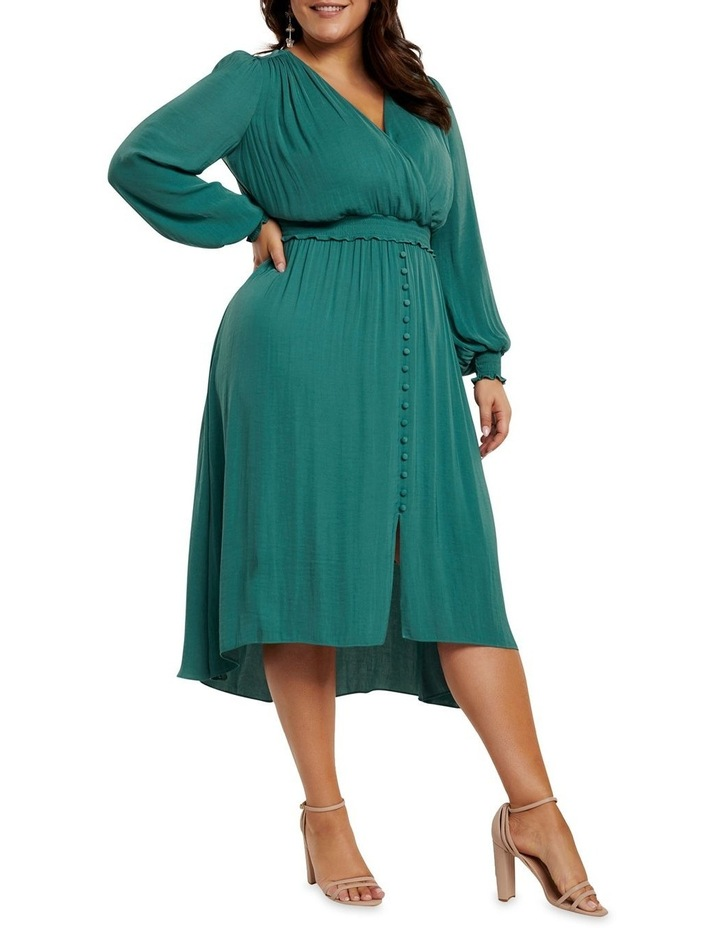Eva Satin Shirred Waist Curve Dress image 3