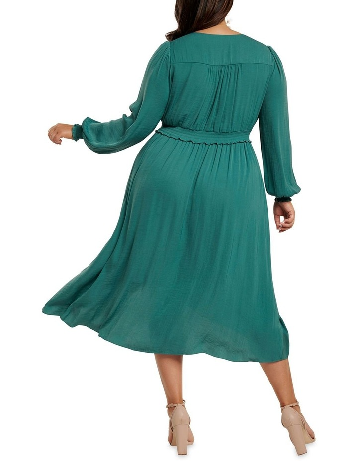 Eva Satin Shirred Waist Curve Dress image 4