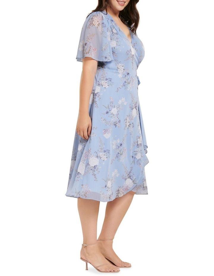 Ebony Ruched Wrap Curve Midi Dress image 3
