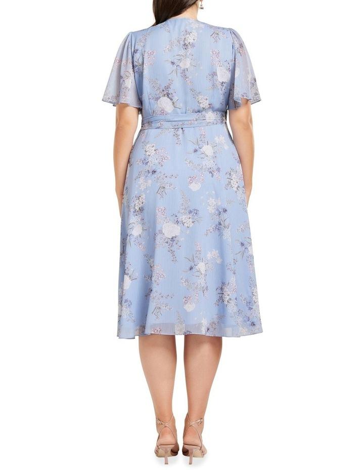 Ebony Ruched Wrap Curve Midi Dress image 4