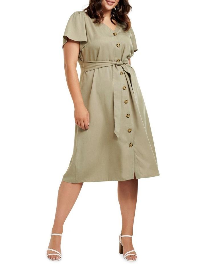 Kennedy Button Down Curve Midi Dress image 1