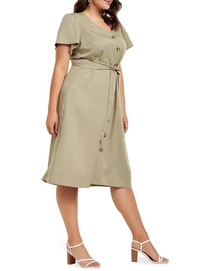 Kennedy Button Down Curve Midi Dress image 3