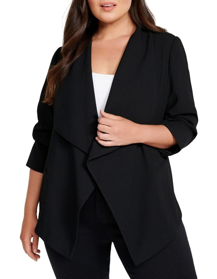 Julia Crepe Curve Waterfall Jacket image 2