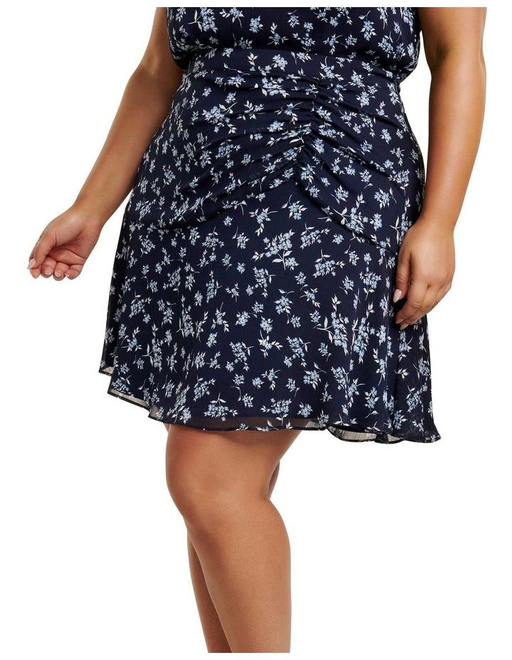 Bella Ruched Curve Mini Skirt image 2