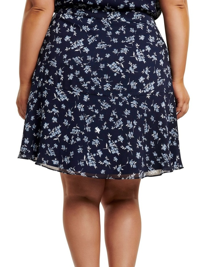 Bella Ruched Curve Mini Skirt image 3