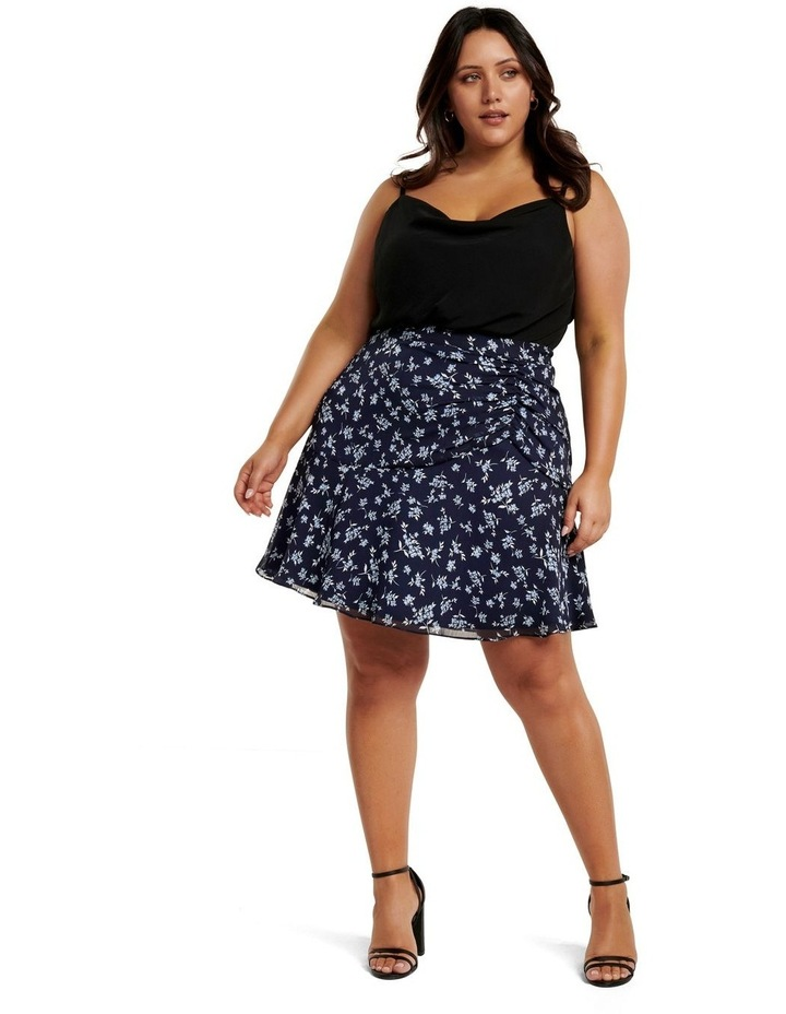 Bella Ruched Curve Mini Skirt image 5