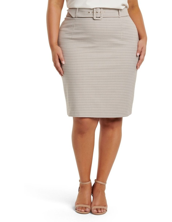 Carrie Curve Check Pencil Skirt image 1