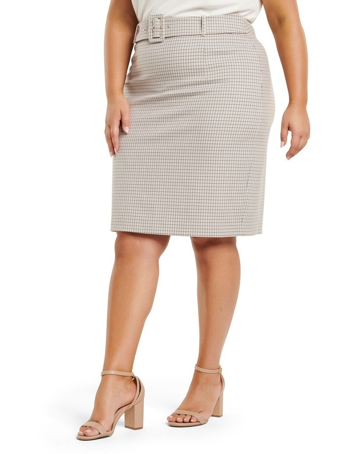 Carrie Curve Check Pencil Skirt image 2