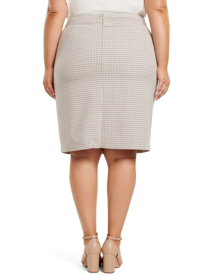 Carrie Curve Check Pencil Skirt image 3