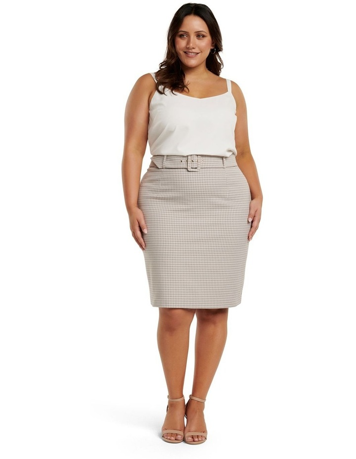 Carrie Curve Check Pencil Skirt image 4