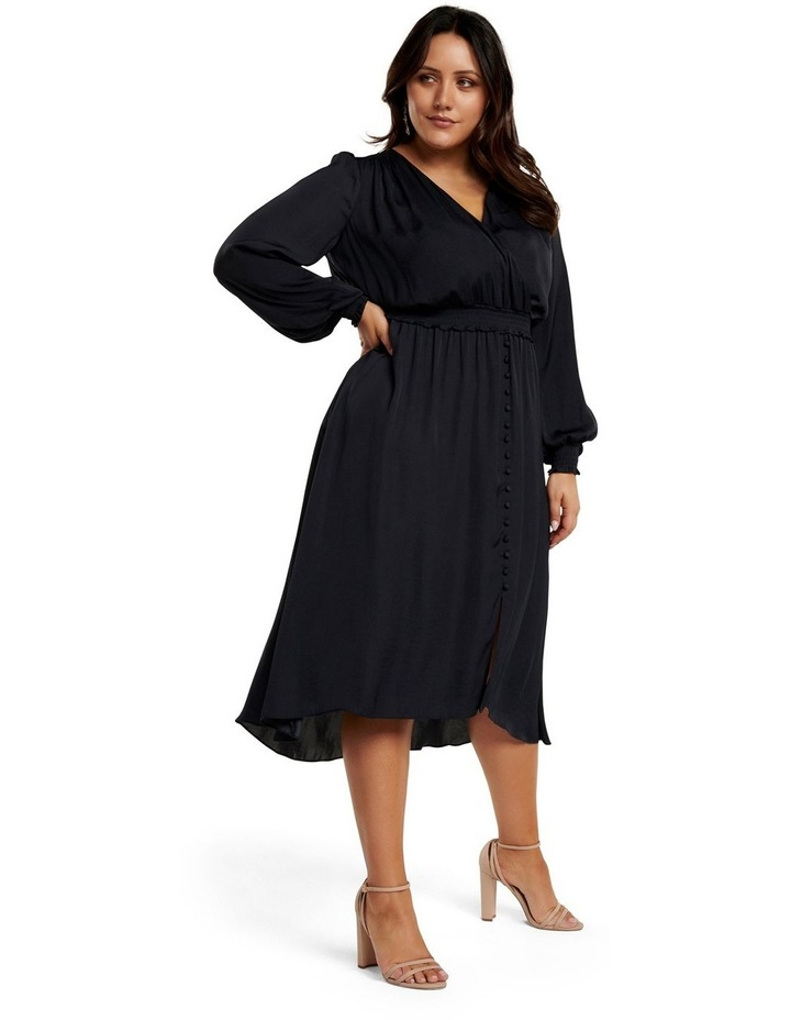 Eva Satin Shirred Waist Curve Dress image 1