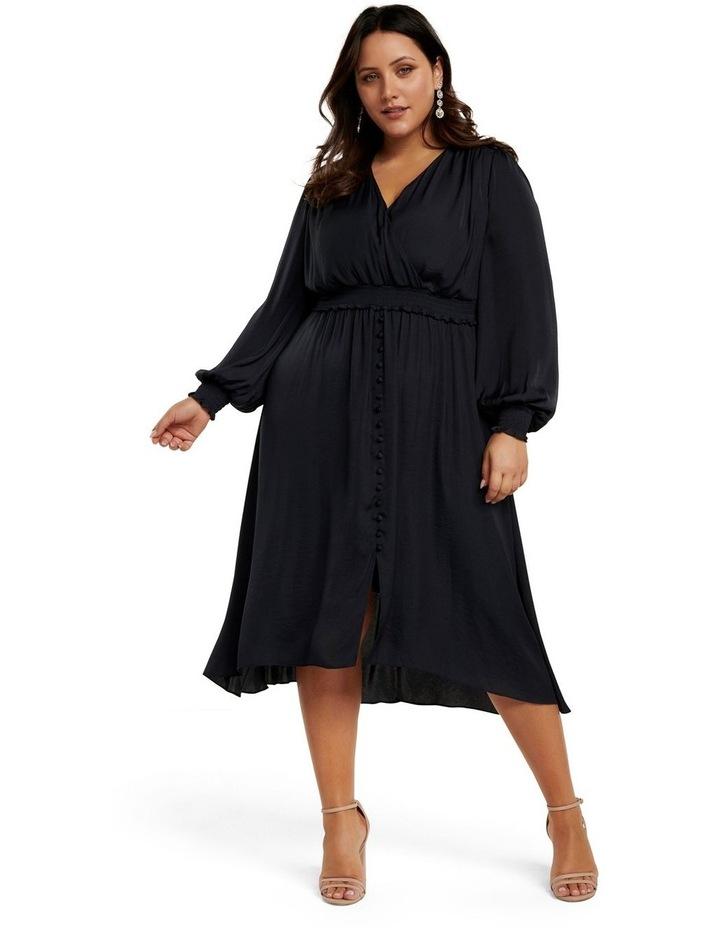 Eva Satin Shirred Waist Curve Dress image 2