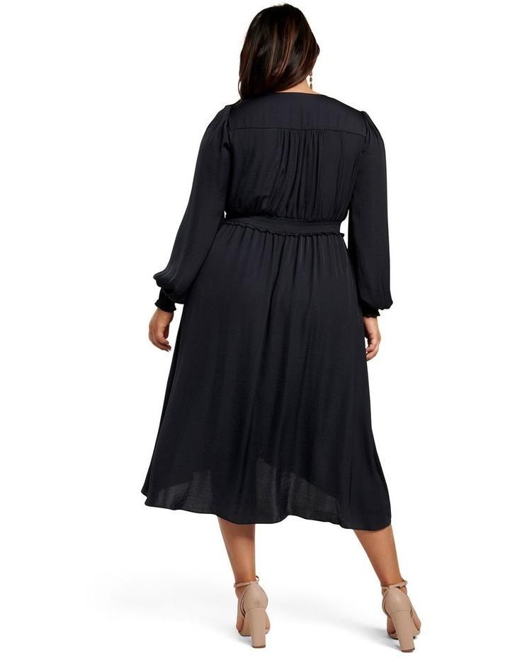 Eva Satin Shirred Waist Curve Dress image 3