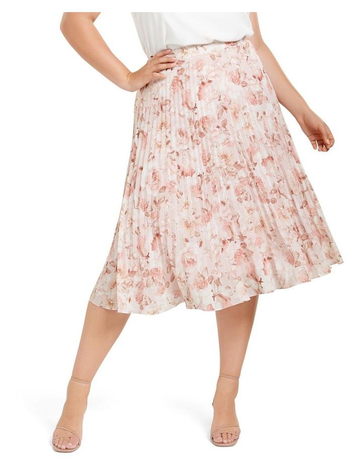 Lucy Pleated Midi Curve Skirt image 1
