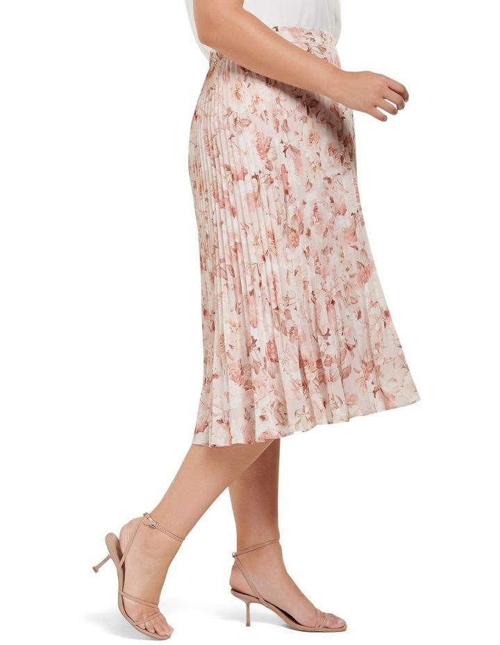 Lucy Pleated Midi Curve Skirt image 2