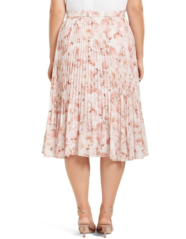 Lucy Pleated Midi Curve Skirt image 3