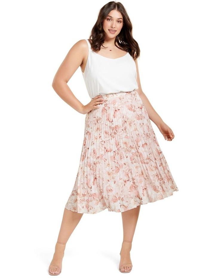 Lucy Pleated Midi Curve Skirt image 4