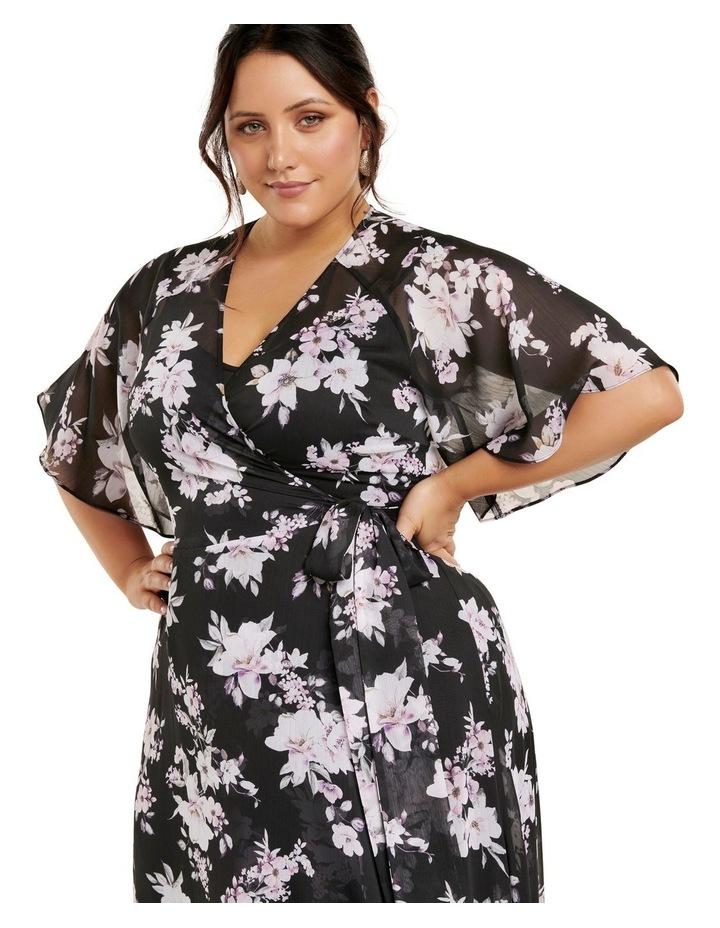 Emma Flutter Wrap Maxi Curve Dress image 2