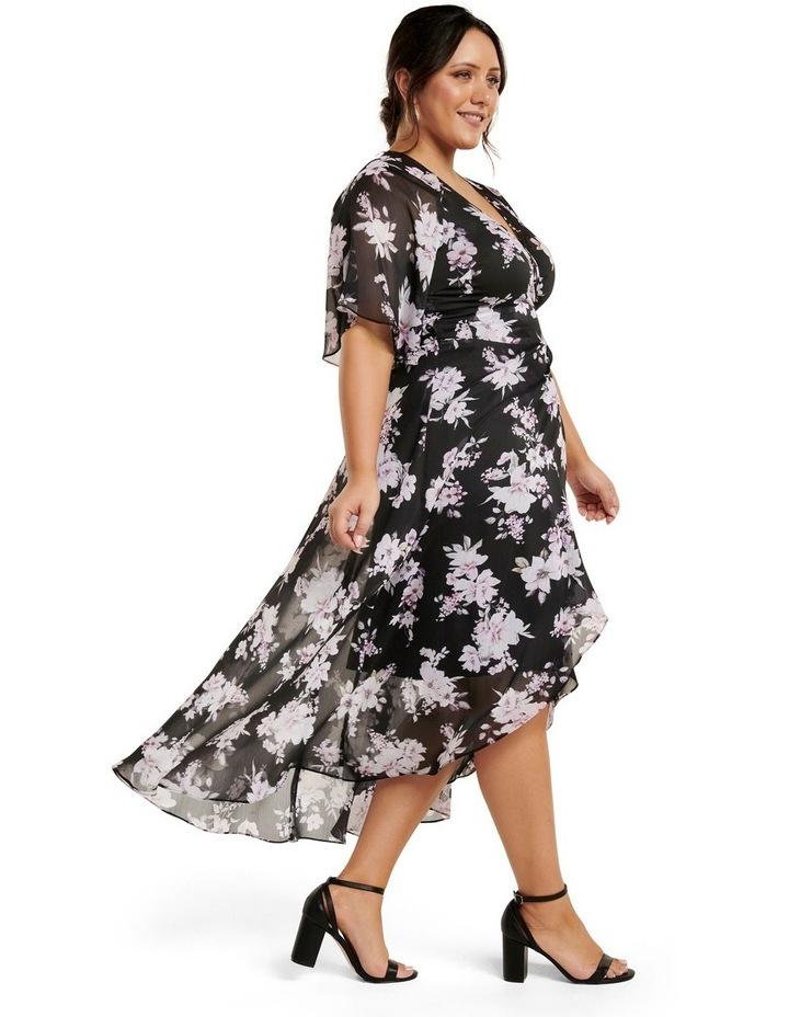 Emma Flutter Wrap Maxi Curve Dress image 3