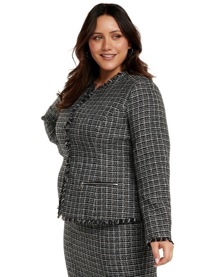 Amy Boucle Edge to Edge Curve Jacket image 3