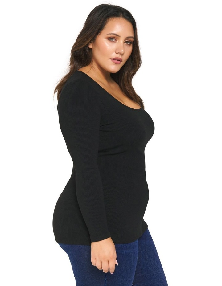 Brenna Rib Square Neck Curve Top image 3
