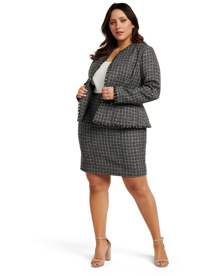 Amy Boucle Curve Pencil Skirt image 1
