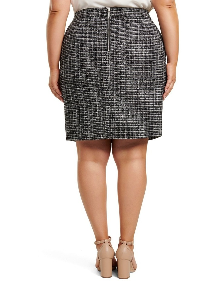 Amy Boucle Curve Pencil Skirt image 3