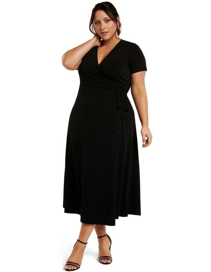 Haylee Luxe Wrap Curve Midi Dress image 1