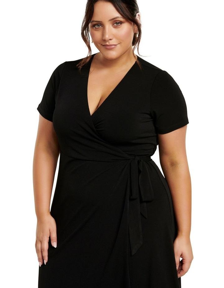 Haylee Luxe Wrap Curve Midi Dress image 2