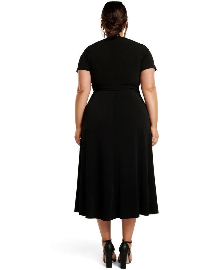 Haylee Luxe Wrap Curve Midi Dress image 4