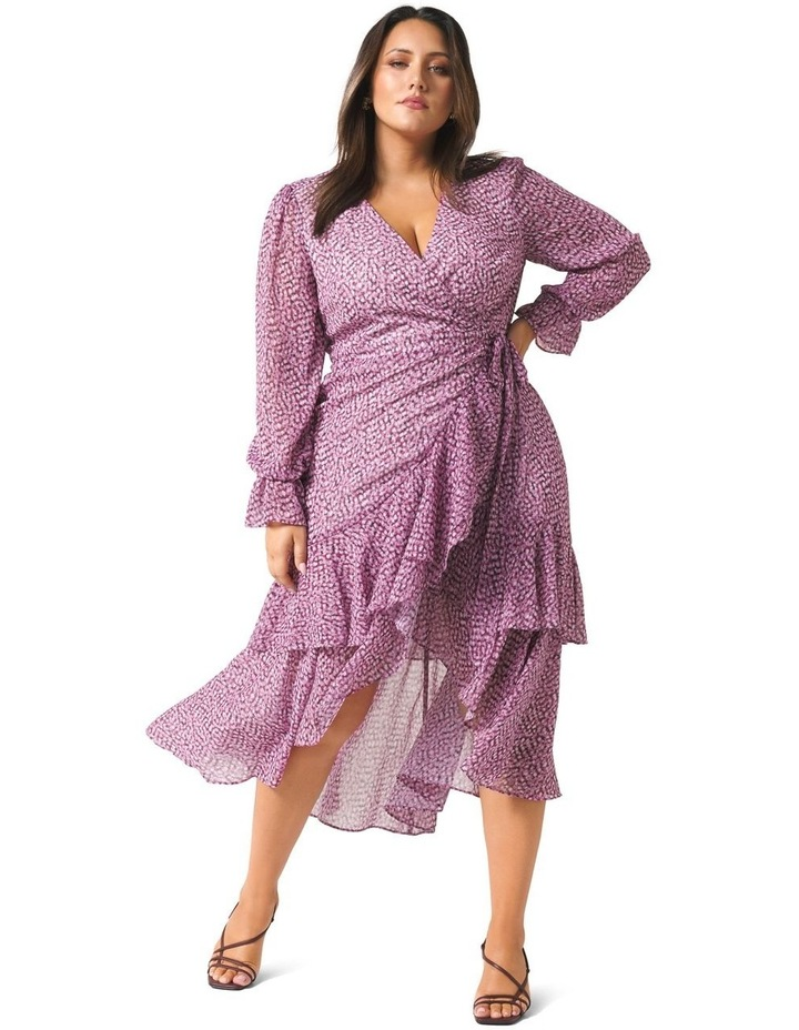 Sara Ruffle Sleeved Curve Wrap Dress image 1