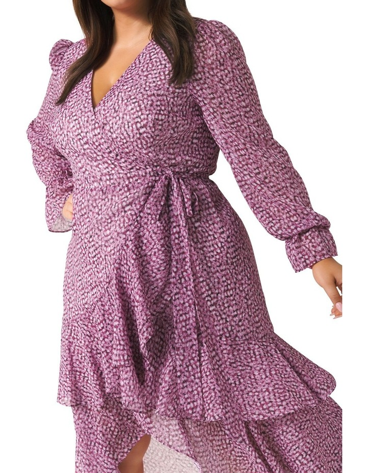 Sara Ruffle Sleeved Curve Wrap Dress image 2