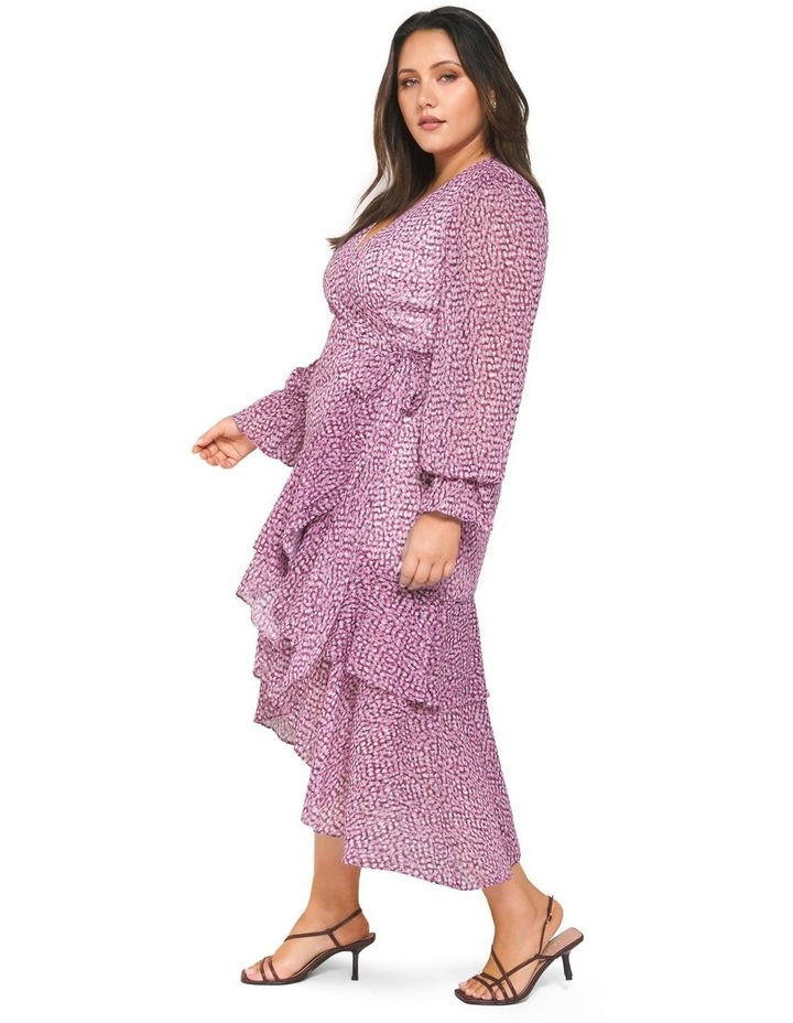 Sara Ruffle Sleeved Curve Wrap Dress image 3
