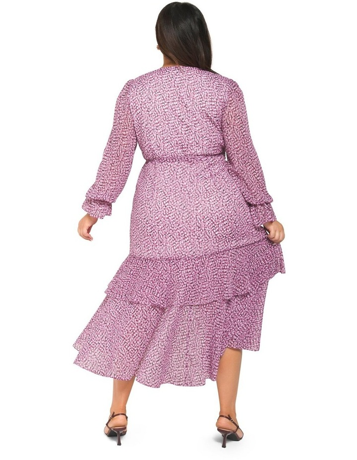 Sara Ruffle Sleeved Curve Wrap Dress image 4