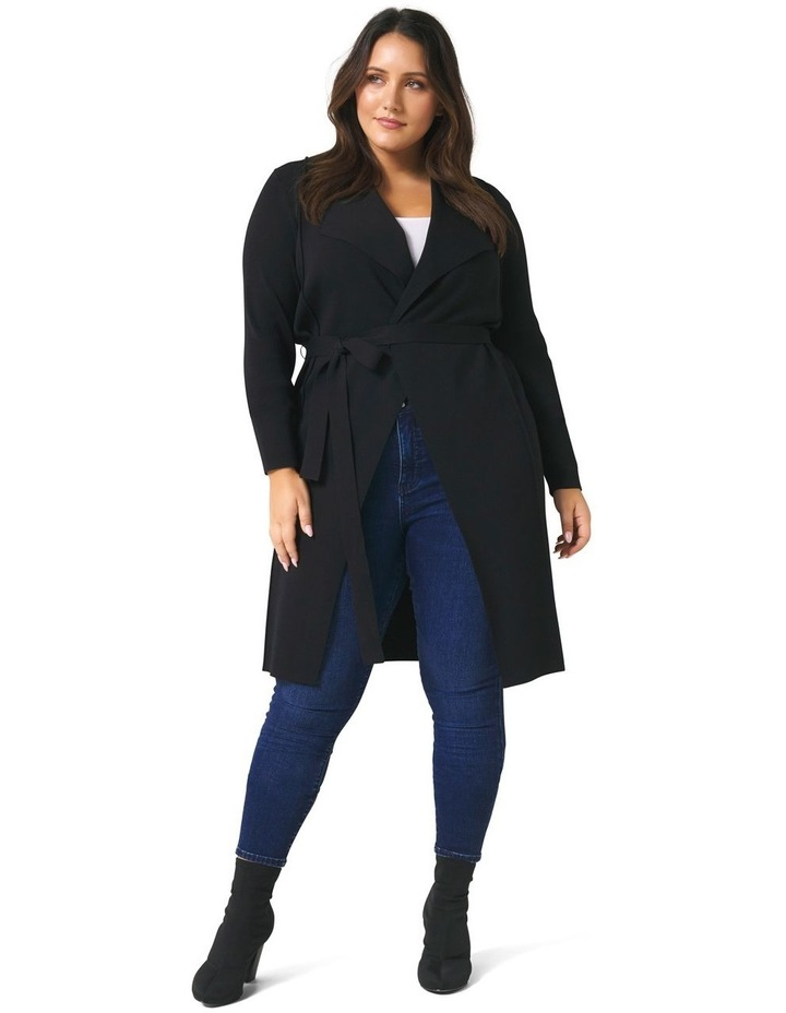 Lucy Panelled Long Curve Cardigan image 1