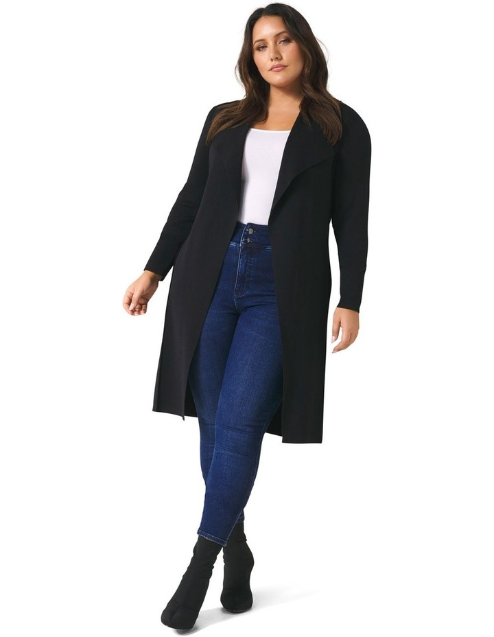 Lucy Panelled Long Curve Cardigan image 2