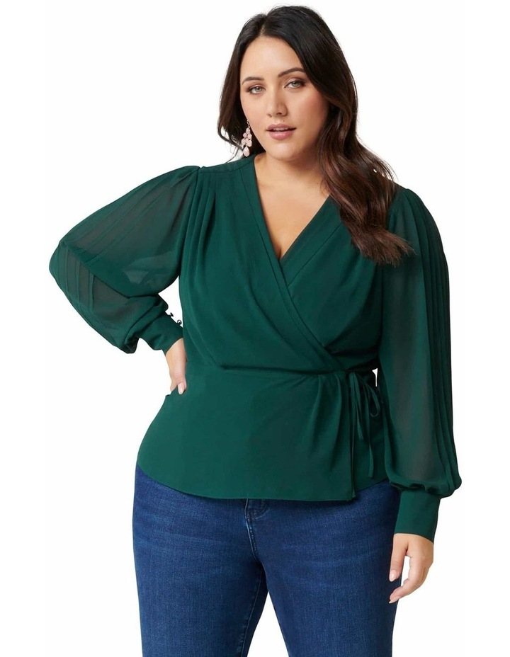 Sienna Pleated Curve Wrap Blouse image 1