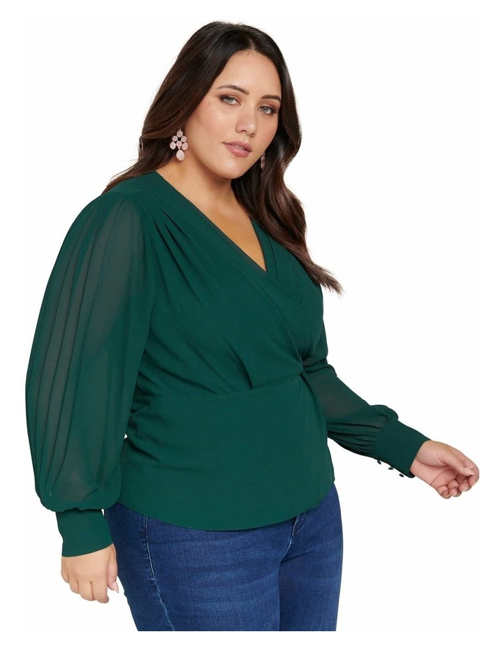 Sienna Pleated Curve Wrap Blouse image 2