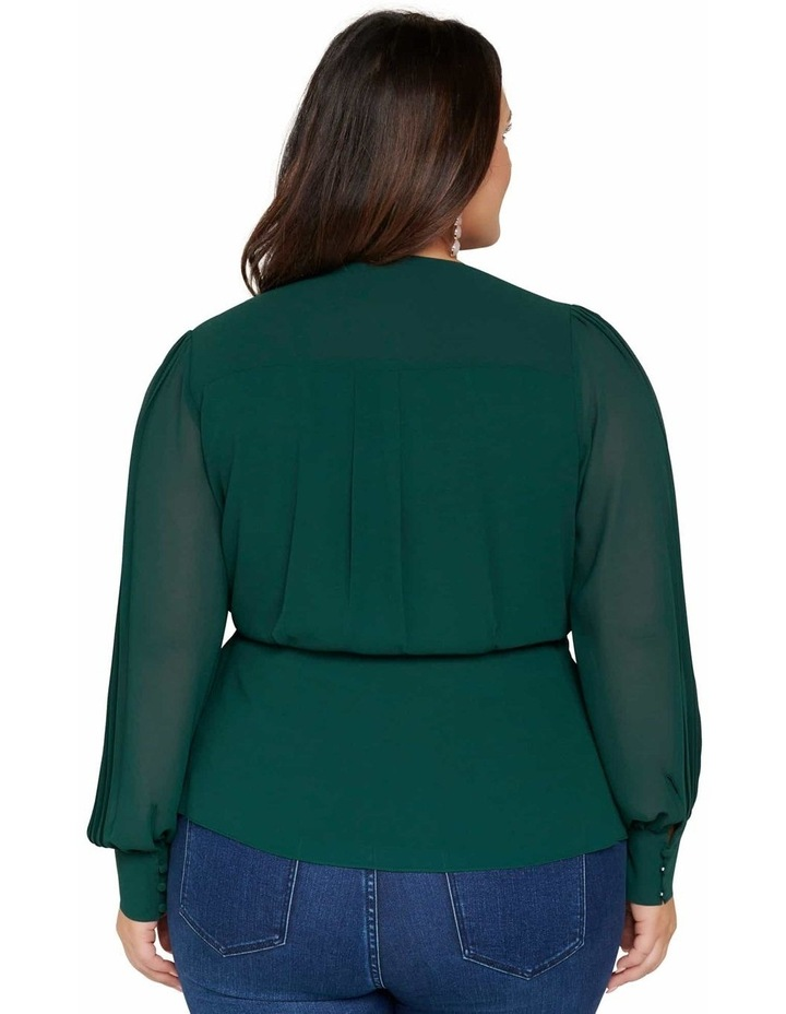 Sienna Pleated Curve Wrap Blouse image 3