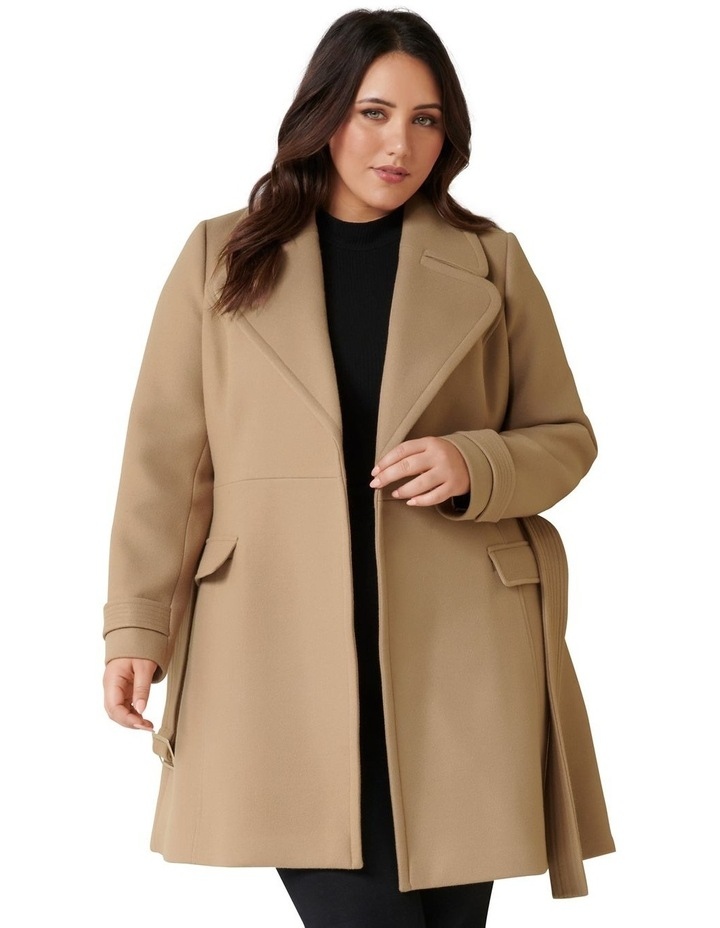 Miley Curve Belted Wrap Coat image 1