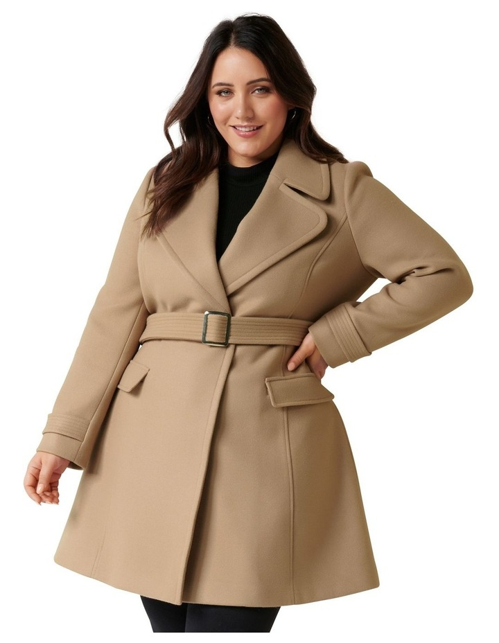 Miley Curve Belted Wrap Coat image 2