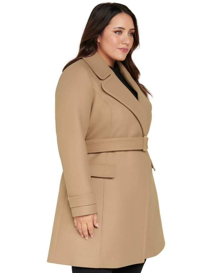 Miley Curve Belted Wrap Coat image 3