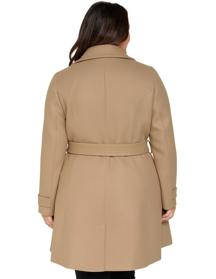 Miley Curve Belted Wrap Coat image 4