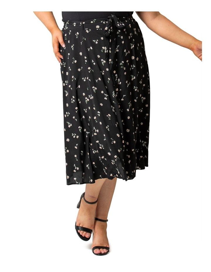 Ainsley Curve Button Through Midi Skirt image 2